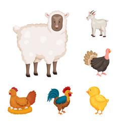 farm and food symbol set vector image