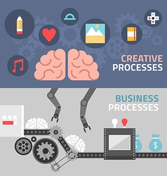 Flat design concept for creative and business vector image
