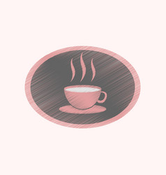 Flat shading style icon logo coffee cup vector