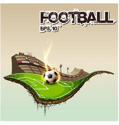 football text football stadium background i vector image