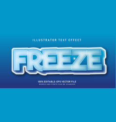 freeze text effect vector image