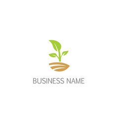 green plant seed bio logo vector image