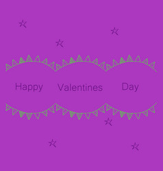 Hand drawn valentines day ornaments abstract icon vector