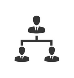hierarchy employee management icon vector image