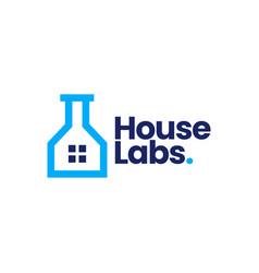 house lab home laboratory logo icon vector image