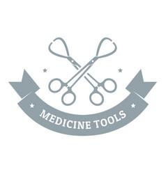 Instrument for medicine logo gray monochrome vector