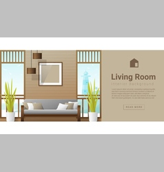Interior design Modern living room background 7 vector image