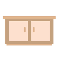 Isolated home furniture design vector