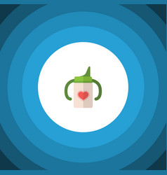isolated infant nutrition flat icon nursing vector image