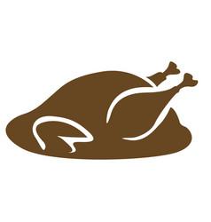 isolated roast turkey vector image