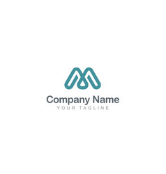 letter m abstract company logo vector image