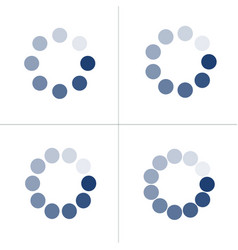 Loading icon set with different number dots or vector