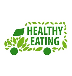 logo delivery of healthy eating vector image