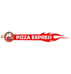 logotype for restaurant pizzeria pizza express vector image