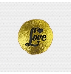 Love - the word as a badge decorated in different vector image