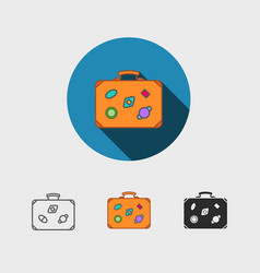 luggage symbol vector image