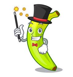 Magician fruit green bananas isolated on mascot vector