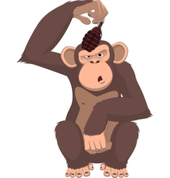 monkey with a grenade vector image