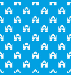 mosque pattern seamless blue vector image