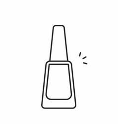 Nail polish icon vector