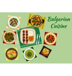 National bulgarian cuisine menu dishes vector image