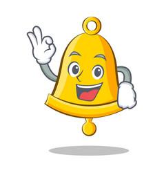 Okay school bell character cartoon vector