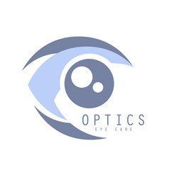 optics eye care logo symbol vector image