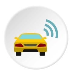 Ordering taxi via GPS icon flat style vector image