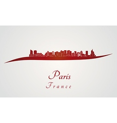 Paris v2 skyline in red vector