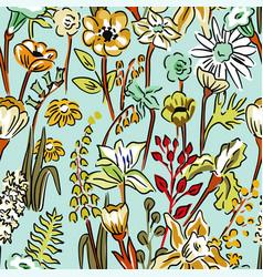 pattern wild flowers vector image