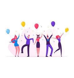 people celebrating new year party with champagne vector image