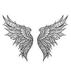 Phoenix bird wings vector