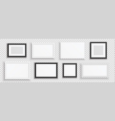 picture frames black or white realistic banners vector image