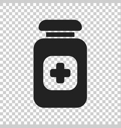 pill icon in flat style tablet on isolated vector image