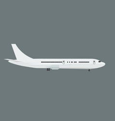 plane with side view mock up flat and solid color vector image