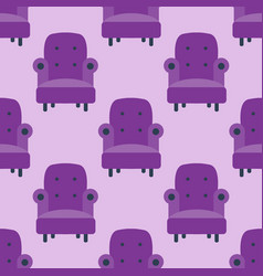 Purple color armchair modern designer chair vector