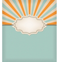 retro background label vector image vector image