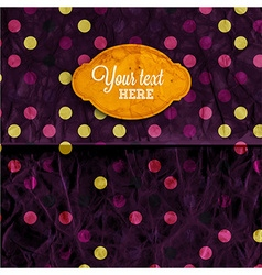 Retro polka dot paper textured background vector