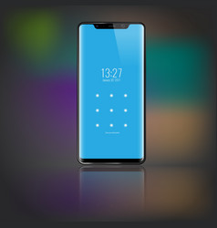 sartphone with password lockpad screen 3d vector image