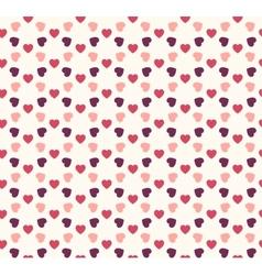 Seamless geometric hearts pattern vector image