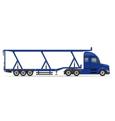 semi truck trailer 17 vector image