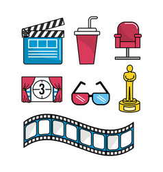 Set cinematography scene to entertainment vector