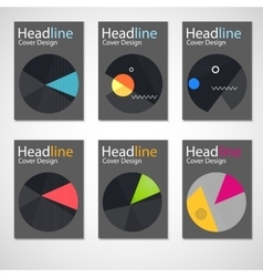 Set geometry abstract brochure vector
