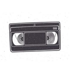 Silhouette vhs cassette video tape record vector