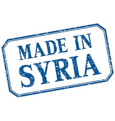Syria - made in blue vintage isolated label vector
