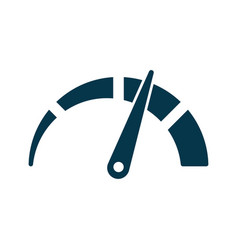 Tachometer speedometer and indicator icon vector