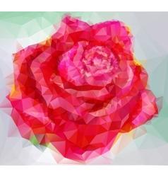 triangular style rose vector image