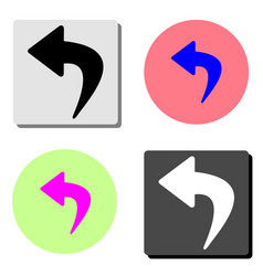 turn arrow flat icon vector image