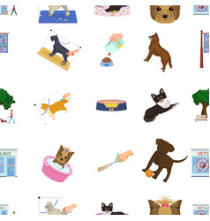 walking with a dog a vet clinic a dog haircut a vector image