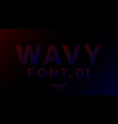 wavy linear font design neon gradient color vector image
